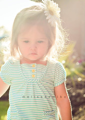 Opportunities. (fireeyes015) Tags: blue light baby sunlight flower cute girl backlight 50mm pretty stripes daughter precious daisy melissaemiko