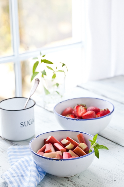Rhubarb & Strawberries