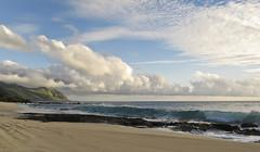 Island getaway (CNorthExplores) Tags: ocean sea canon island hawaii sand day waves pacific cloudy oahu shoreline sunny g11 yokohamabay explored