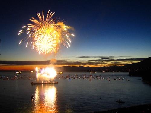 Fireworks vs. Sunset