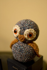 Hoo Hoo (Angela.) Tags: digital canon rebel raw crochet owl amigurumi xti 400d canondigitalrebelxti