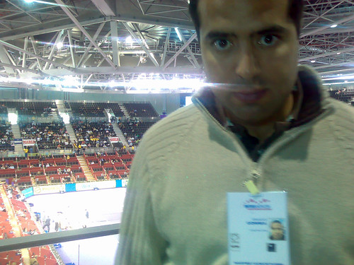 Nacho en la Pista Central del Madrid Arena