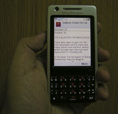 Daily in Christ on the Sony Ericsson P1i
