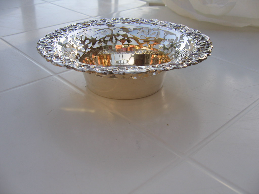 Sterling Silver Candy bowl (pierced)
