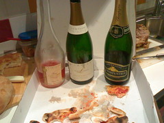 pizza champagne