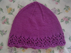 Lace-Edge Woman's Hat for L.