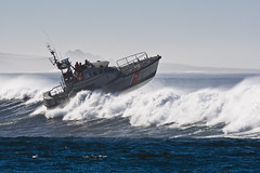 Coast Guard 47\' Motor Lifeboat in Morro Bay, CA 04 Dec 2007