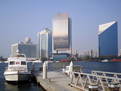 Dubai, UAE | Dubai Creek  #1 (ndrey) Tags: city trip travel summer vacation panorama holiday architecture creek skyscraper dubai day tour yacht live united uae middleeast roadtrip arabic emirates arab mooring dubaicreek etisalat arabian sheraton 10000 unitedarabemirates deira 1000 persiangulf 100000 dubay burdubai nbd  duba moorage khor emarati khordubai dubayy  5photosaday arabianpeninsula   dubaj   dcci       doubayi db dubaicreektower