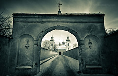 The Other Side of the Gate (TomOnTheRoof) Tags: church dark scary gate perspective na monastery firstquality klasztor tomanthony platinumphoto kameduw bielanach