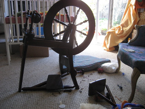 Spinning wheel aftermath