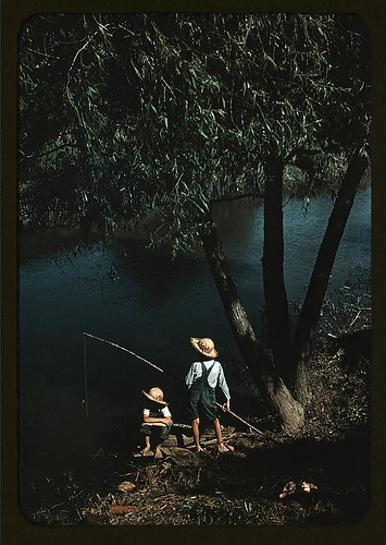 Boys fishing in a bayou, Schriever, La. (LOC)
