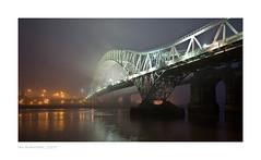 Runcorn Bridge, England (Ian Bramham) Tags: bridge england mist night photography photo image fineart bridges photograph northern merseyside runcornbridge d40runcornbridge ianbramham