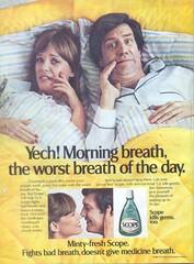 Vintage 80's Scope Mouthwash (twitchery) Tags: vintage ads mouthwash vintageads vintagebeauty