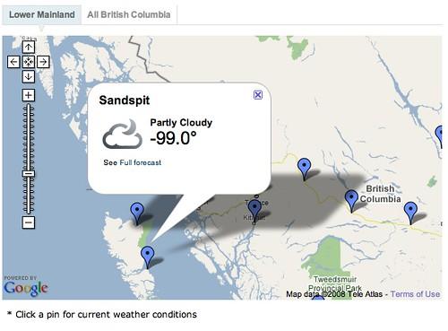 Sandspit Weather