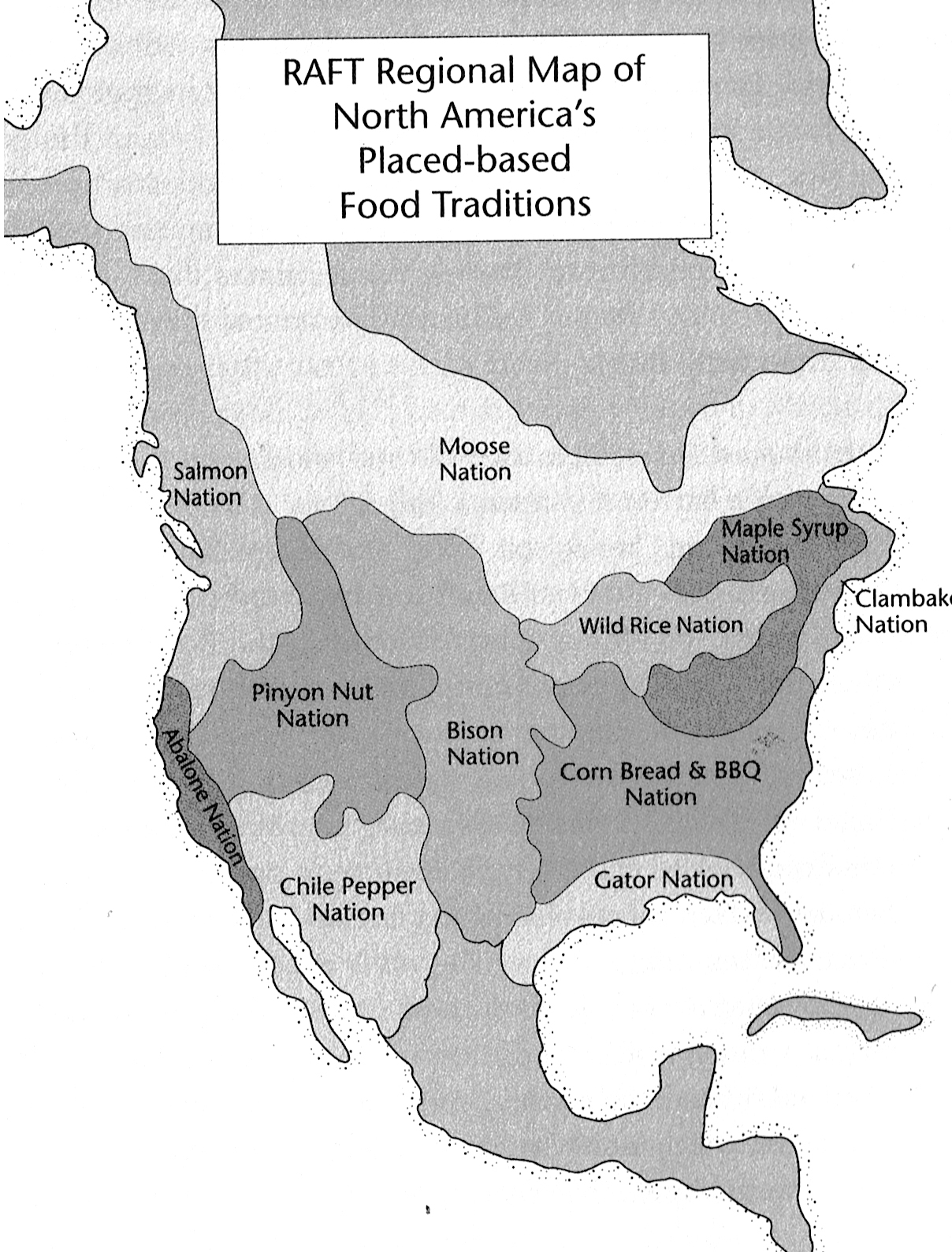 NA Place-Based Food Traditions Map