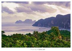 Phi Phi Wo0oW ,, (Nasser Bouhadoud) Tags: camera trip sea green canon thailand island eos 350d phi view 2006 mohammed phuket pure nasser saher ناصر allil saherallil بوحدود