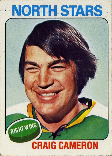 Craig Cameron, Minnesota North Stars, 75-76 Topps, hockey, hockey cards