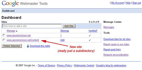 webmaster-tools-subdir