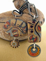 Two Sultans (julie_picarello) Tags: house yellow beads julie jewelry designs polymer gane mokume picarello