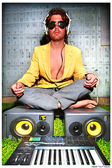 .TechnoBeachHippie. (.SANCHEZ.) Tags: music grass smart yellow photoshop canon fun outdoors cool friend keyboard colorful dj sandiego rockstar vibrant portait symmetry dude monitor jordan part doctor medstudent headphones usc jpg genius speakers scientist sanchez raybans periodictableofelements 40d technobeachhippie kennysanchez