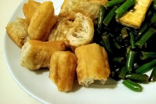 Tofu, Green Beans and Chinese Crullers