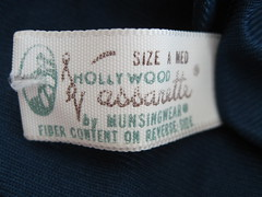 Hollywood Vassarette (JoulesVintage) Tags: darkblue halfslip hollywoodvassarette