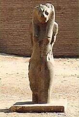 Diosa templo de Jnum, Esna, Egipto.