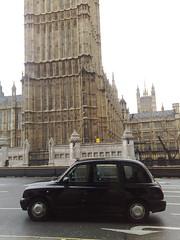 London black cab by Big Ben