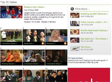 ITV top 10 videos