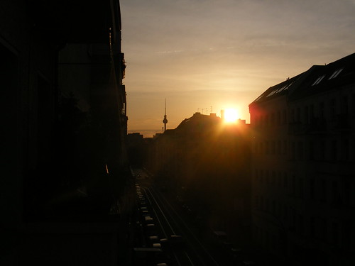 Atardece en el extranjero, en Berlín