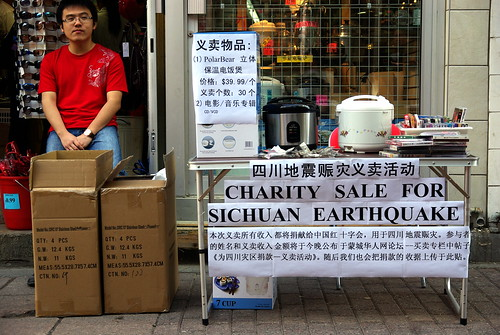 Charity sale for Sichuan Earthquake - in Montreal