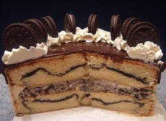 Oreo Extravaganza Cake - Interior (lismi171) Tags: cookies dessert baking sweet chocolate birthdaycake vanilla oreos extravaganza buttercream yellowcake cookiesandcream chocolateganache oreocookies bittersweetchocolate oreocake italianmeringue celebrationcakes