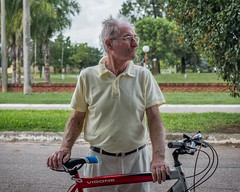 "Day 644. I met Mauricio Bonetti as I was leaving the small town María Luisa. He rolled up on his bike to talk for a bit. He was a carpenter teacher for years, but now helps raise his grandchildren. ""There are lots of children of immigrants here; Germans,"