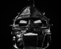 Roman soldier helmet (Peter Branger) Tags: bw macro macromondays helmet romanempire blackwhite leicadlux5