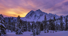 Mt Shuksan at Sunrise (Mt Baker Ski area, Heather Meadows, WA) (Sveta Imnadze) Tags: nature mtbakerskiarea heathermeadows wa pacificnorthwest sunrise mtshuksan