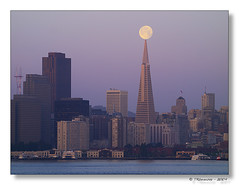 Balance (Tony Immoos) Tags: sanfrancisco california lighting morning sky moon tower water sunshine skyline sunrise wow glow cityscape treasureisland pyramid landmark olympus explore historical balance e3 transamerica 70300mm daytrip alpenglow 1000views californialandscape zd sanfranciscocounty telephotolandscape olympuse3