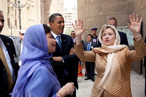 Hillary Clinton in Muslim garb