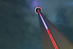 Visiting Toronto / CN Tower [3/4] (steeve.m) Tags: city sky toronto canada tower art colors night cn canon lights long exposure downtown best tokina futuristic steeve 1224 ambiance maltais 40d atx124afprodx