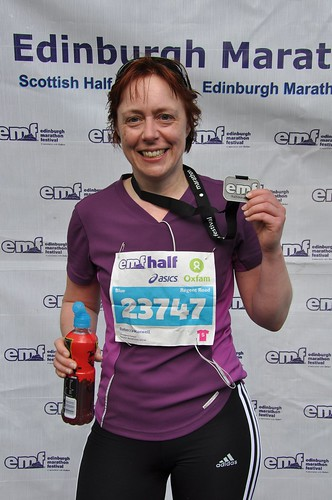 With my finisher's medal, Edinburgh Half Marathon 2011