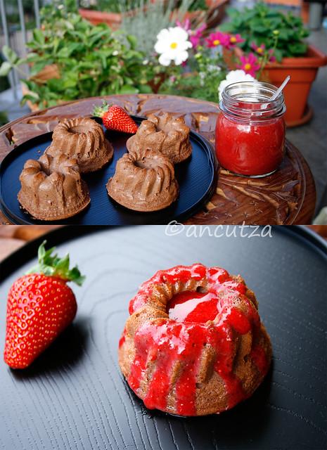 ricetta con foto tortino al cacao e ricotta
