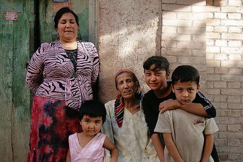 Uyghur family by Pawel Boguslawski