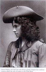 Annie Oakley (strph) Tags: woman sepia vintage profile cowgirl wildwest annieoakley wildwestshow westernhistorycollection