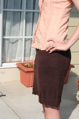 Lace Leaf hemp skirt