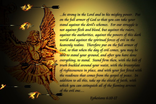 the armor of god. Put on the full armor of God