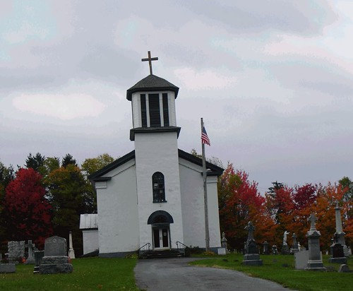 A country church in Autumn
