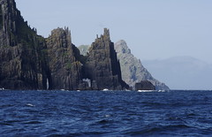 Cathedral Rocks (Richard Boyle) Tags: ireland sea sky lines vertical islands rocks waves kerry jagged dinglepeninsula cathedralrocks blasketislands inishnabro