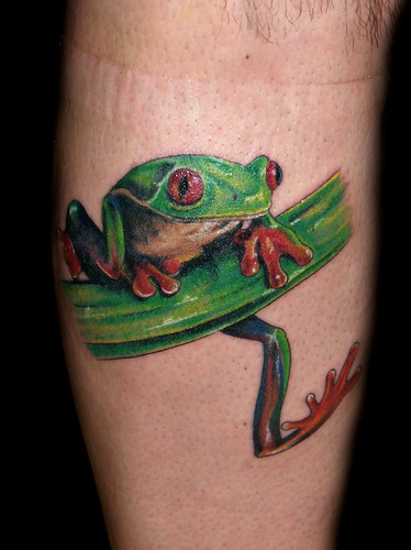 Green Frog Tattoo Design Ideas