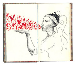 (Gabriel Gianordoli) Tags: woman illustration butterfly book sketch
