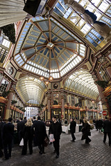 Leadenhall Market (cybertect) Tags: uk roof england london stars leadenhallmarket unitedkingdom ceiling fisheye cityoflondon 1881 canoneos5d ec3 canonef15mmf28fisheye sirhoracejones londonec3 fisheyehemi