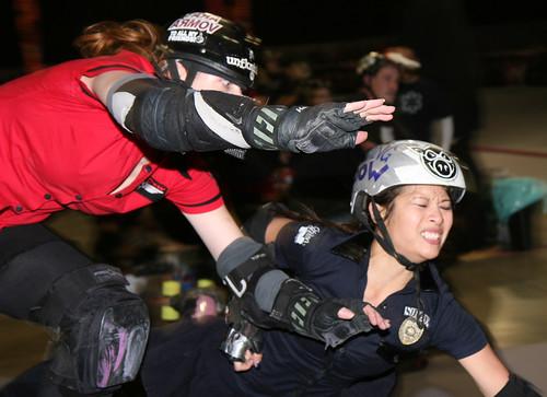 Tara Armov takes down Kung Pow Tina